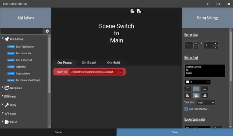 NOOBS CMDR Touch Portal