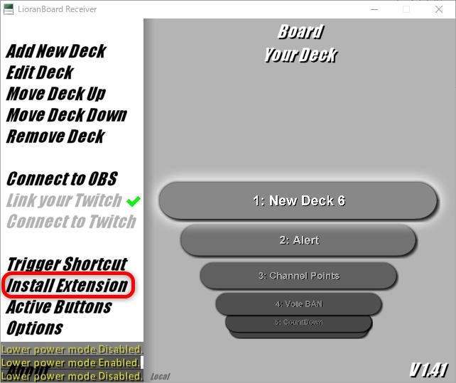 Extension Install